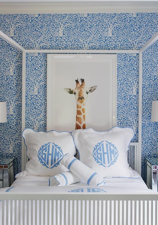 blue bedroom by Liz Caan